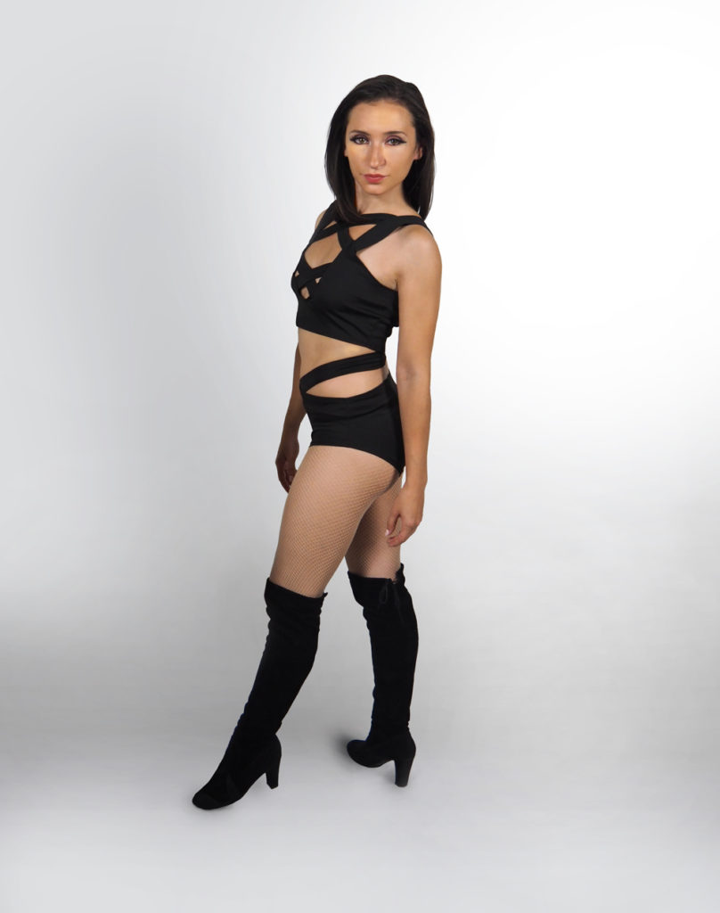Gogo Dancer in black costume