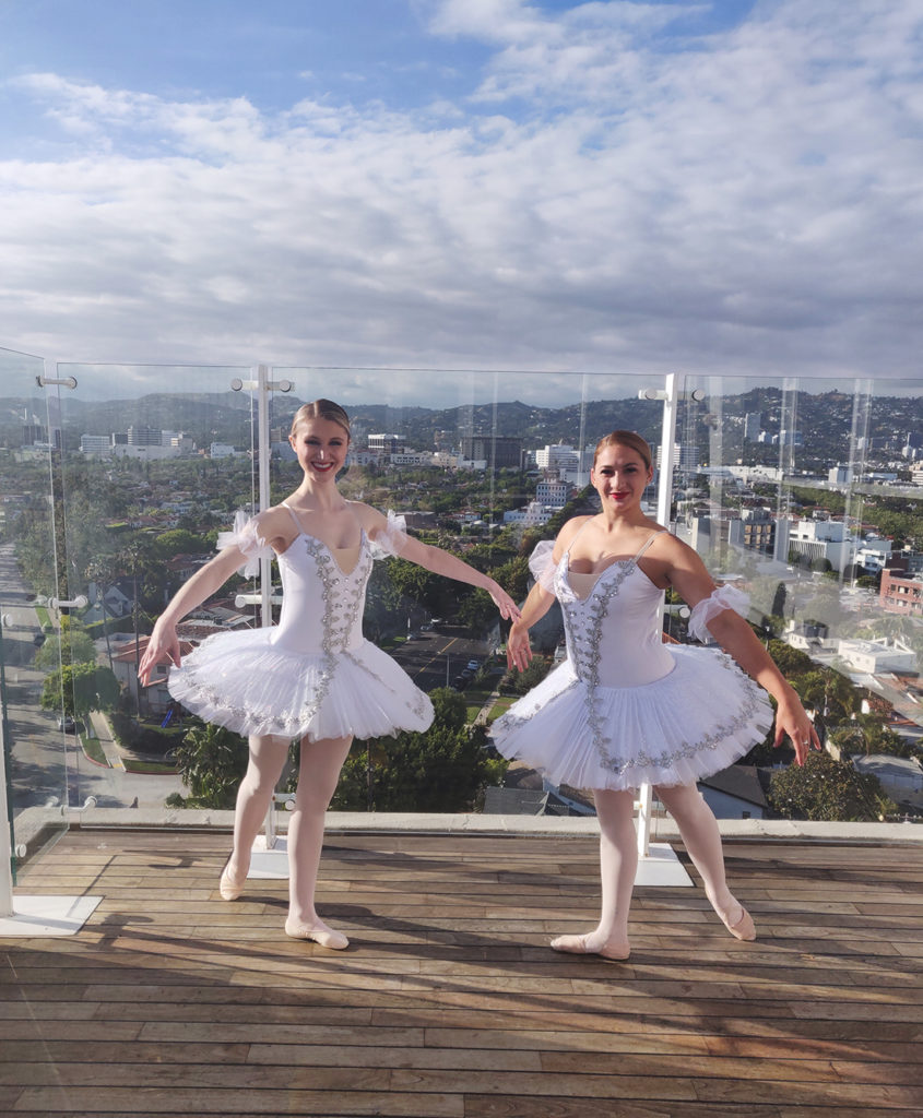 Ballet dancers at a wedding in los angeles
