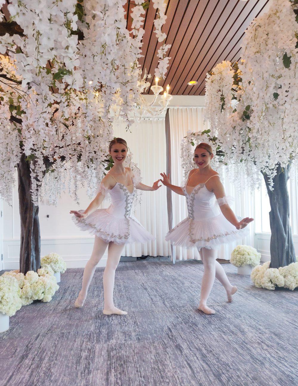 Ballet dancers in s winter wonderland